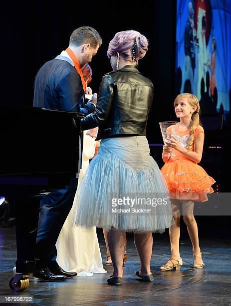 Honoree Jack Osboure Kelly Osbourne and Mariella Rickel speak at the 20th Annual Race To Erase MS Gala Love To Erase MS at the Hyatt Regency Century...