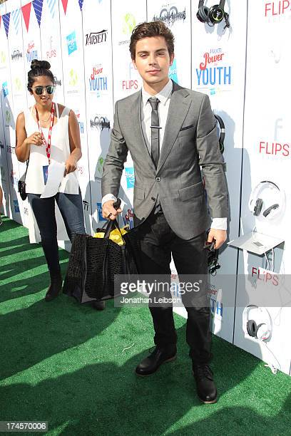 Honoree Jake T Austin attends Variety's Power of Youth presented by Hasbro Inc and generationOn at Universal Studios Backlot on July 27 2013 in...
