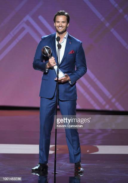 Honoree Jake Wood accepts the Pat Tillman Award for Service onstage during The 2018 ESPYS at Microsoft Theater on July 18 2018 in Los Angeles...