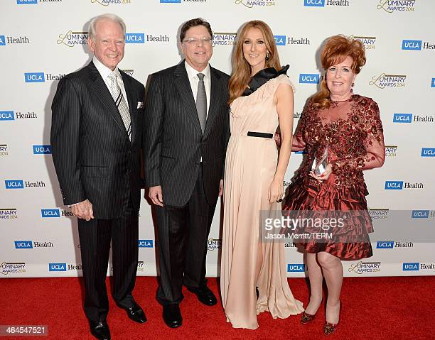 Honoree James Bashor Department Chair UCLA Head and Neck Surgery Dr Gerald Berke musician Celine Dion and honoree Dianne Bashor attend the UCLA Head...