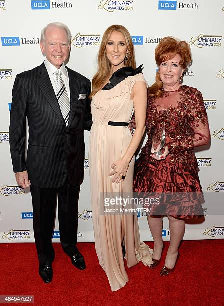 Honoree James Bashor musician Celine Dion and honoree Dianne Bashor attend the UCLA Head and Neck Surgery Luminary Awards at the Beverly Wilshire...