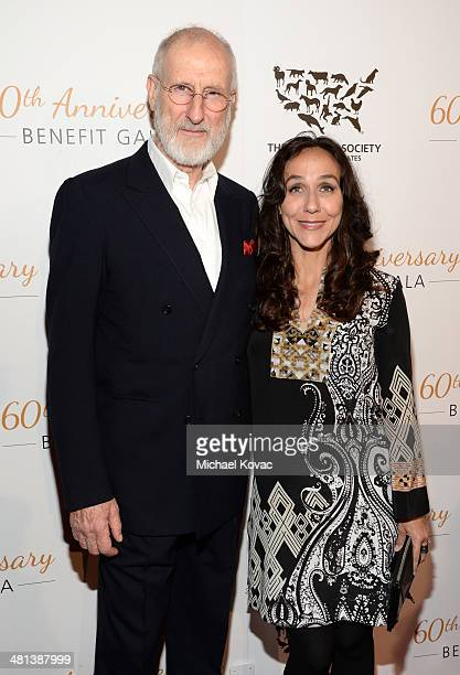 Honoree James Cromwell and filmmaker Gabriela Cowperthwaite attend the Humane Society of The United States 60th Anniversary Gala at The Beverly...