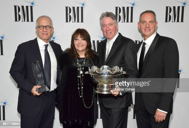 Honoree James Newton Howard BMI VP Film TV Visual Media Relations Doreen RingerRoss 2017 BMI Icon Award recipient Alan Silvestri and BMI President...