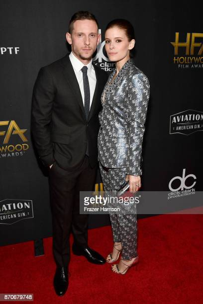 Honoree Jamie Bell and actor Kate Mara attend the 21st Annual Hollywood Film Awards at The Beverly Hilton Hotel on November 5 2017 in Beverly Hills...