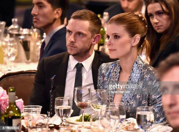 Honoree Jamie Bell and actor Kate Mara attend the 21st Annual Hollywood Film Awards at The Beverly Hilton Hotel on November 5, 2017 in Beverly Hills,...