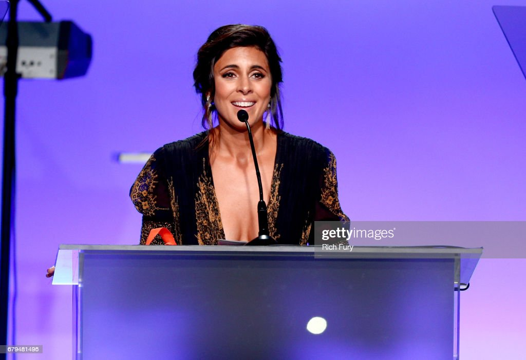 Honoree Jamie-Lynn Sigler speaks onstage during the 24th Annual Race To Erase MS Gala at The Beverly Hilton Hotel on May 5, 2017 in Beverly Hills, California.