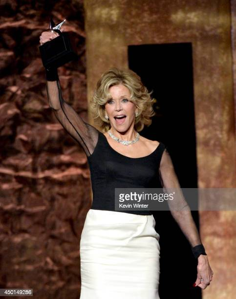 Honoree Jane Fonda accepts the AFI Lifetime Achievement Award onstage during the 2014 AFI Life Achievement Award A Tribute to Jane Fonda at the Dolby...