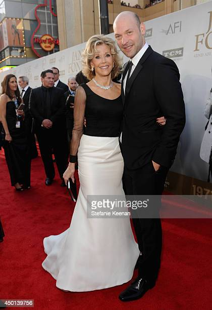 Honoree Jane Fonda and actor Corey Stoll attend the 2014 AFI Life Achievement Award A Tribute to Jane Fonda at the Dolby Theatre on June 5 2014 in...