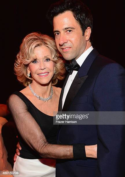 Honoree Jane Fonda and actor Troy Garity attend the 2014 AFI Life Achievement Award A Tribute to Jane Fonda After Party at the Dolby Theatre on June...