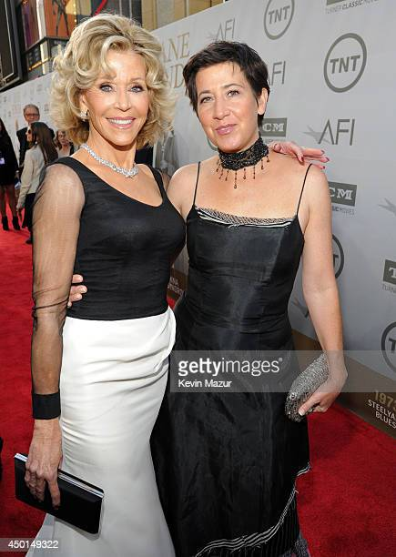 Honoree Jane Fonda and Vanessa Vadim attend the 2014 AFI Life Achievement Award A Tribute to Jane Fonda at the Dolby Theatre on June 5 2014 in...