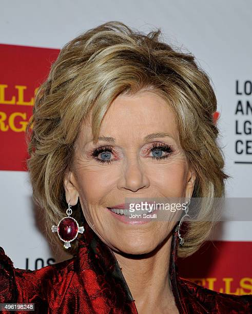 Honoree Jane Fonda arrives at the Los Angeles LGBT Center 46th Anniversary Gala Vanguard Awards at the Hyatt Regency Century Plaza on November 7 2015...