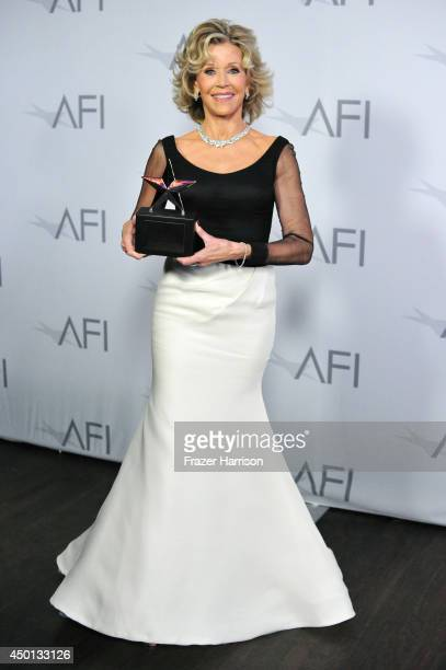 Honoree Jane Fonda attends the 2014 AFI Life Achievement Award: A Tribute to Jane Fonda at the Dolby Theatre on June 5, 2014 in Hollywood,...