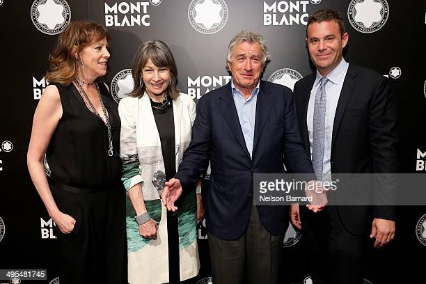 Honoree Jane Rosenthal Brooke Neidich Robert De Niro and Joe Daniels attend Montblanc honors Jane Rosenthal at 2014 Montblanc de la Culture Arts...