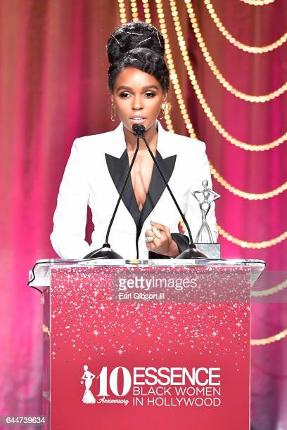 Honoree Janelle Monae accepts the 'Breakthrough Award' onstage at Essence Black Women in Hollywood Awards at the Beverly Wilshire Four Seasons Hotel...