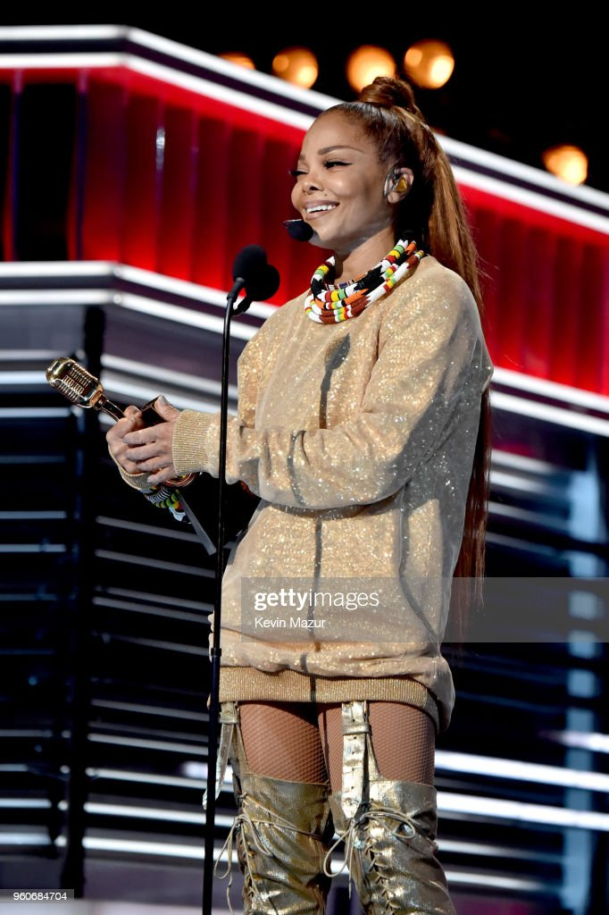 Honoree Janet Jackson accepts the Icon Award onstage at the 2018 Billboard Music Awards at MGM Grand Garden Arena on May 20, 2018 in Las Vegas, Nevada.