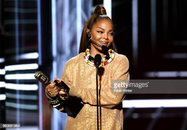 Honoree Janet Jackson accepts the Icon Award onstage during the 2018 Billboard Music Awards at MGM Grand Garden Arena on May 20 2018 in Las Vegas...