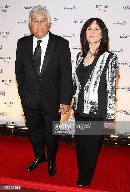 Honoree Jay Leno and his wife Mavis arrive at the 2014 Kennedy Center's Mark Twain Prize For American Humor honoring Jay Leno at The Kennedy Center...