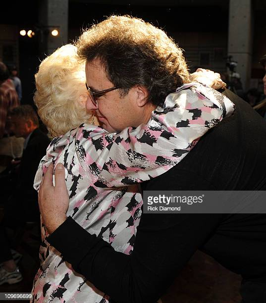 Honoree Jean Shepard receives congrats from Singer/Songwriter Vince Gill after CMA Announces Bobby Braddock Reba McEntire and Jean Shepard as newest...