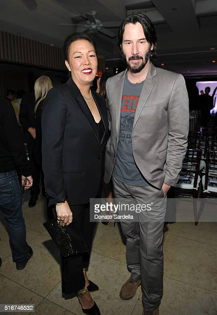 COVERAGE Honoree Jeanne Yang and actor Keanu Reeves attend The Daily Front Row Fashion Los Angeles Awards 2016 at Sunset Tower Hotel on March 20 2016...