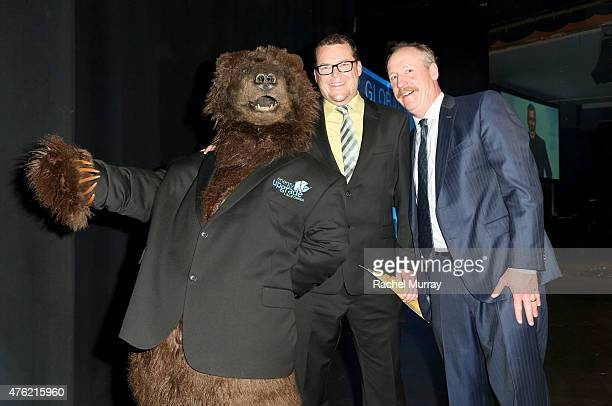 Honoree Jeff Blanton of Energy Upgrade California and actor Matt Walsh onstage during the Global Green USA 19th Annual Millennium Awards on June 6...