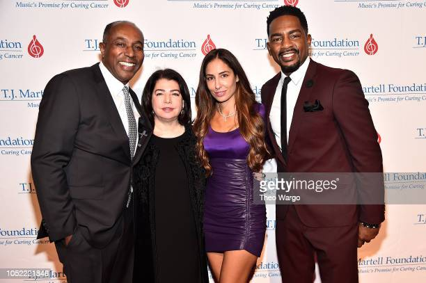 Honoree Jeffrey Harleston Michele Anthony guest and Host Comedian Bill Bellamy attend The TJ Martell Foundation 43rd New York Honors Gala at Cipriani...