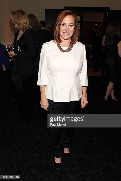 Honoree Jen Psaki attends the ELLE and HUGO BOSS Women in Washington Power List Dinner at The Residence of the German Ambassador on March 18, 2015 in...