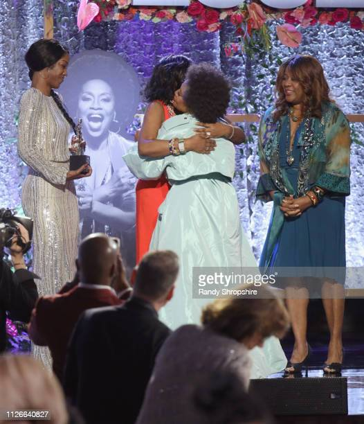 Honoree Jenifer Lewis accepts award onstage during the 2019 Essence Black Women in Hollywood Awards Luncheon at Regent Beverly Wilshire Hotel on...