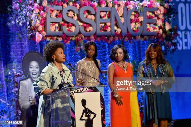 Honoree Jenifer Lewis speaks onstage during the 2019 Essence Black Women in Hollywood Awards Luncheon at Regent Beverly Wilshire Hotel on February 21...