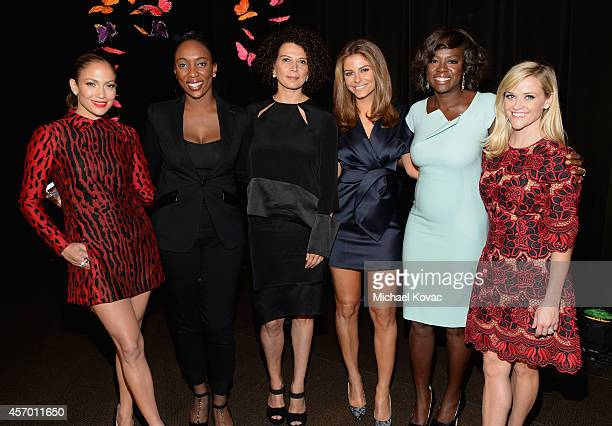 Honoree Jennifer Lopez honoree Jessica Matthews honoree Donna Langley TV personality Maria Menounos honoree Viola Davis and honoree Reese Witherspoon...