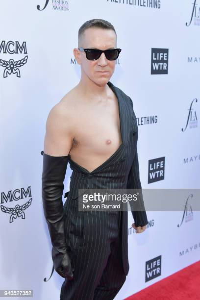 Honoree Jeremy Scott attends The Daily Front Row's 4th Annual Fashion Los Angeles Awards at Beverly Hills Hotel on April 8 2018 in Beverly Hills...