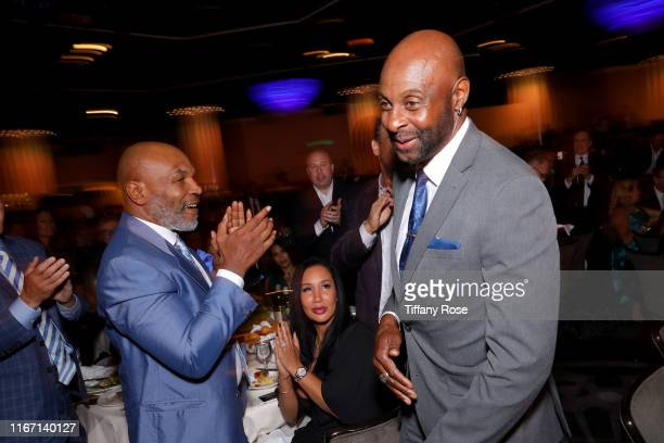 Honoree Jerry Rice walks onstage during the 19th Annual Harold and Carole Pump Foundation Gala at The Beverly Hilton Hotel on August 09, 2019 in...