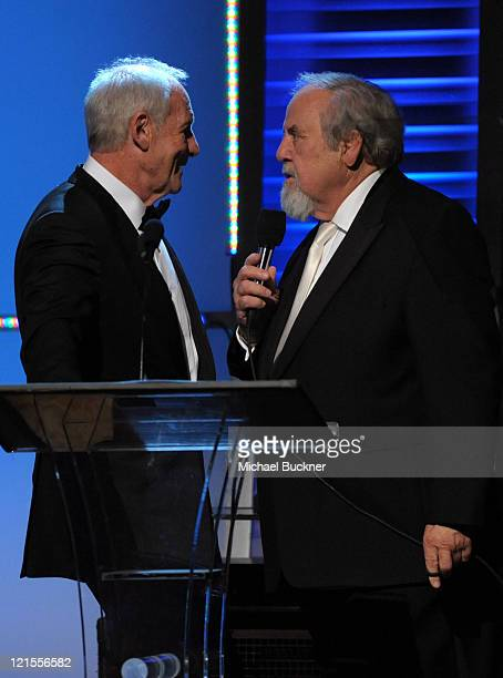 Honoree Jerry Weintraub and George Schlatter attend the UNICEF Ball held at the Beverly Wilshire Hotel on December 10 2009 in Beverly Hills California