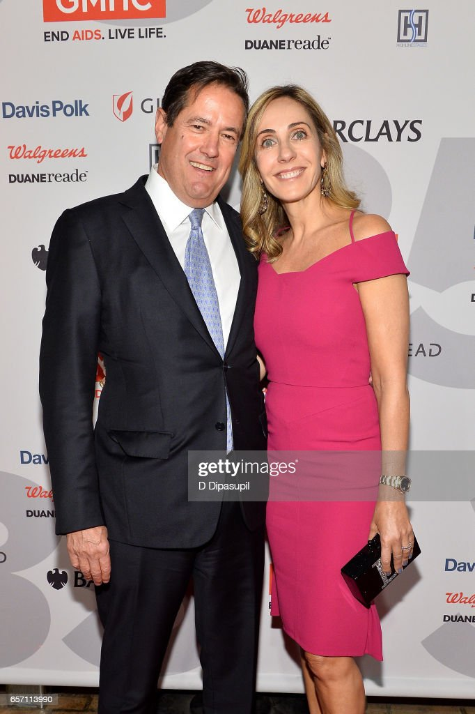 Honoree Jes Staley (L) and wife Debbie Staley attend the GMHC 35th Anniversary Spring Gala at Highline Stages on March 23, 2017 in New York City.