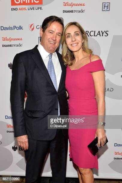 Honoree Jes Staley and wife Debbie Staley attend the GMHC 35th Anniversary Spring Gala at Highline Stages on March 23 2017 in New York City