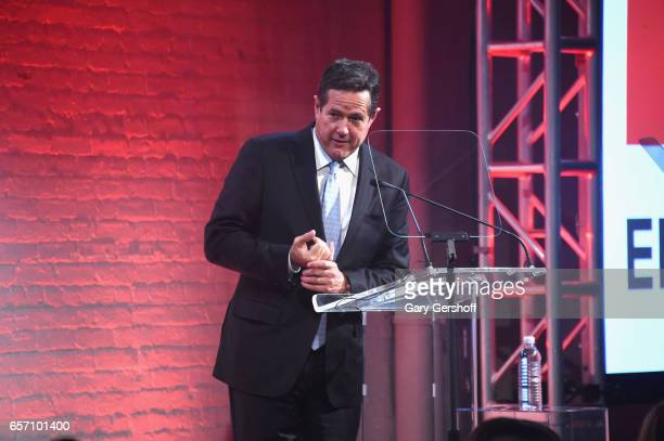 Honoree Jes Staley speaks on stage during the GMHC 35th Anniversary Spring Gala at Highline Stages on March 23 2017 in New York City