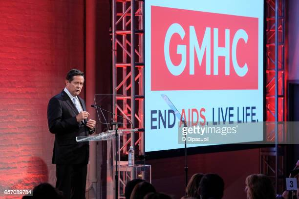 Honoree Jes Staley speaks onstage during the GMHC 35th Anniversary Spring Gala at Highline Stages on March 23 2017 in New York City
