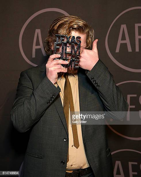Honoree Jesse Plemons poses back stage during the Austin Film Society's 2016 Texas Film Awards at Austin Studios on March 10 2016 in Austin Texas