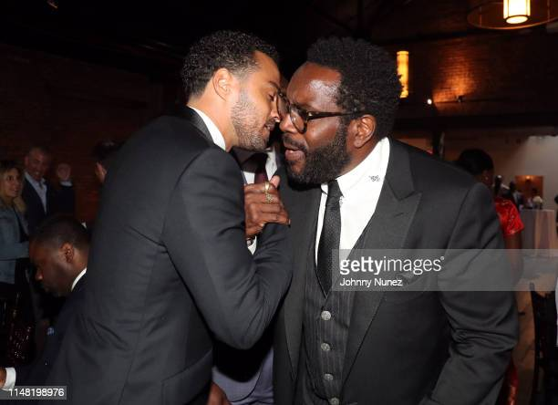 Honoree Jesse Williams and actor Chad Coleman attend the 2019 Moving Mountains Gala on June 4 2019 in New York City