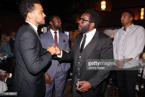 Honoree Jesse Williams Moving Mountains Founder Jamie Hector actor Chad Coleman and Producer Danny Reyes attend the 2019 Moving Mountains Gala on...