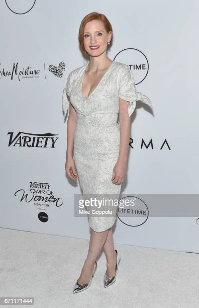 Honoree Jessica Chastain attends Variety's Power Of Women New York at Cipriani Midtown on April 21 2017 in New York City