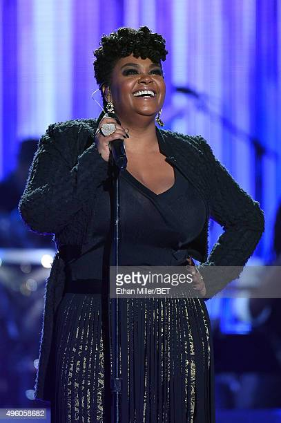 Honoree Jill Scott performs onstage during the 2015 Soul Train Music Awards at the Orleans Arena on November 6 2015 in Las Vegas Nevada