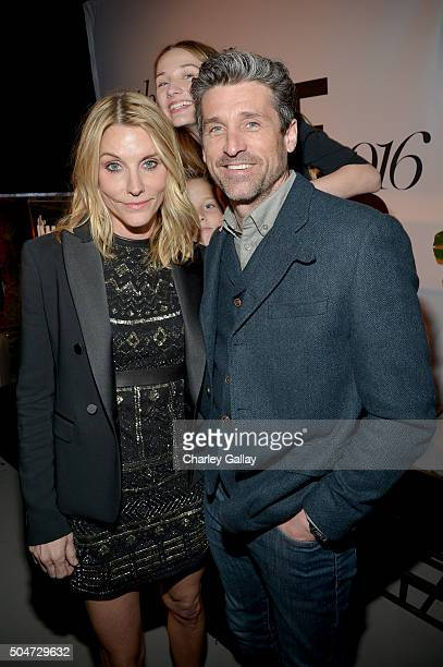 Honoree Jillian Dempsey and actor Patrick Dempsey attend the inaugural Image Maker Awards hosted by Marie Claire at Chateau Marmont on January 12...