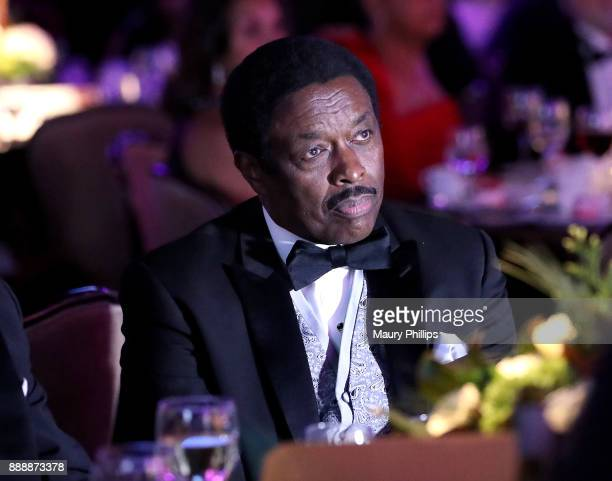 Honoree Jim Hill receives the Pioneer of African American Achievement Award presented by The Brotherhood Crusade at The Beverly Hilton Hotel on...
