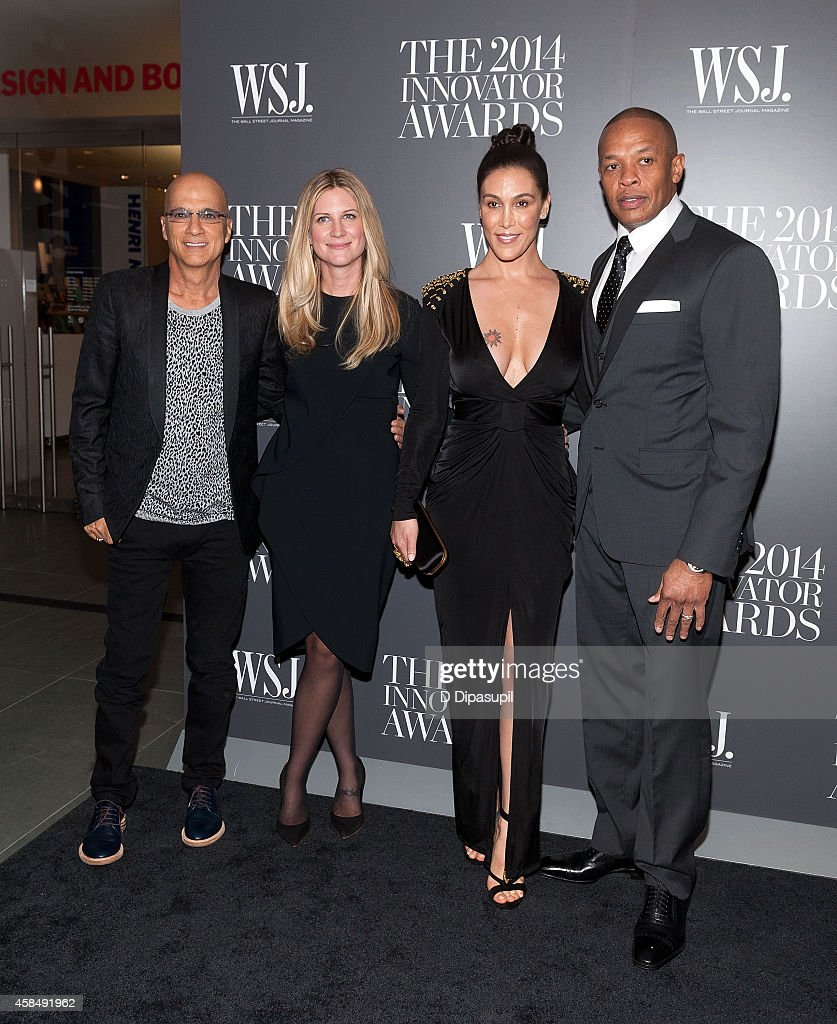 Honoree Jimmy Iovine, WSJ. Magazine editor-in-chief Kristina O'Neill, Nicole Young, and honoree Dr. Dre attend WSJ. Magazine's 'Innovator Of The Year' Awards at the Museum of Modern Art on November 5, 2014 in New York City.
