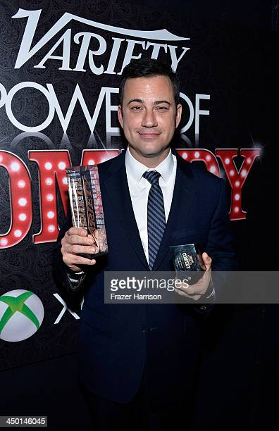 Honoree Jimmy Kimmel attends Variety's 4th Annual Power of Comedy presented by Xbox One benefiting the Noreen Fraser Foundation at Avalon on November...