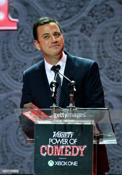 Honoree Jimmy Kimmel onstage during Variety's 4th Annual Power of Comedy presented by Xbox One benefiting the Noreen Fraser Foundation at Avalon on...