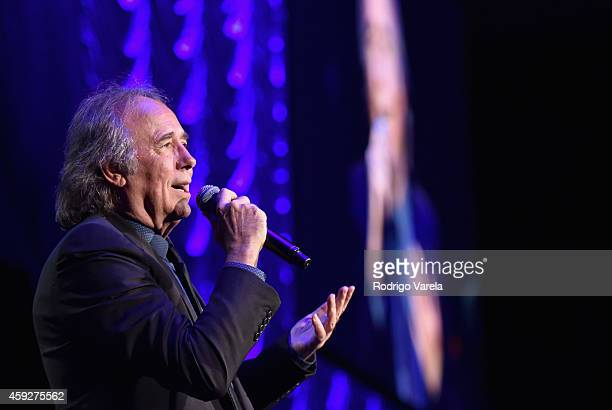 Honoree Joan Manuel Serrat performs onstage during the 2014 Person of the Year honoring Joan Manuel Serrat at the Mandalay Bay Events Center on...