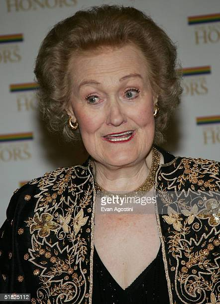 Honoree Joan Sutherland arrives at the 27th Annual Kennedy Center Honors at US Department of State December 4 2004 in Washington DC