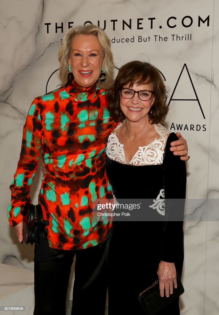 Honoree Joanna Johnston (L) and actor Sally Field attend the Costume Designers Guild Awards at The Beverly Hilton Hotel on February 20, 2018 in Beverly Hills, California.