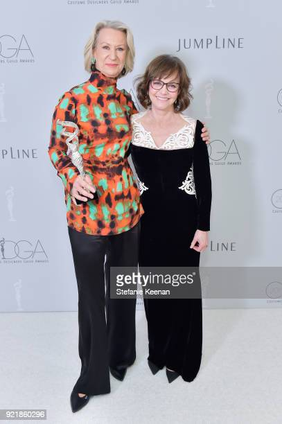 Honoree Joanna Johnston recipient of the Career Achievement Award and actor Sally Field attend the Costume Designers Guild Awards at The Beverly...